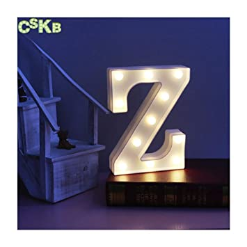 Amazon.com: CSKB LED Marquee Letra Luces 26 Alfabeto Luz ...