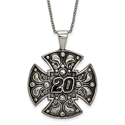 (NASCAR 20 Matt Kenseth Stainless Steel LARGE MALTESE CROSS FOR)