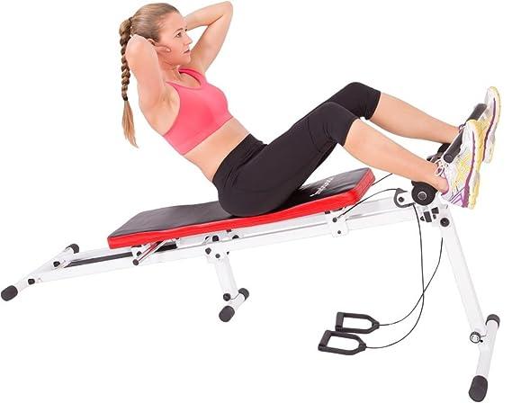 SportPlus Banco de Abdominales con Sistema de Polea - Aparato Fitness para Entrenamiento en Casa, Plegable, máx. Peso de Usuario 120 kg: Amazon.es: Deportes ...