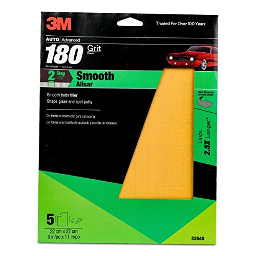 3M 32545 9'' x 11'' P180A Grit Production Resinite Gold Sheet (Pack of 20) by 3M (Image #1)