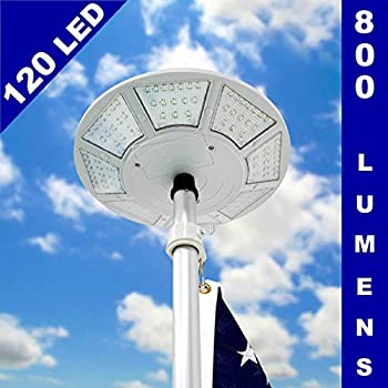Amazon Com Telepole Manufacturing Inc New Solar Flagpole
