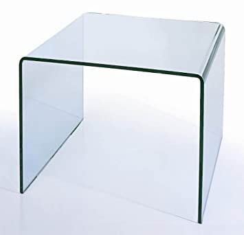 BH Design Waterfall Bent Glass End Table Part 37