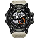 SMAEL Men's Analog Digtal watch Sport Wrist Watch Dual Quartz army military watches 3Bar Water Resistant