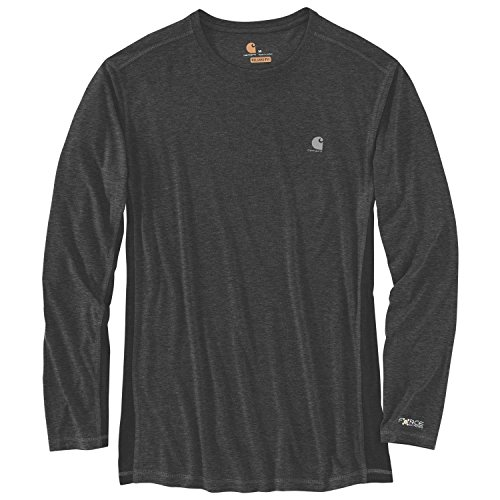 Black Carhartt shirt T Extremes Men sleeve Heather Long black Force IrA0rS