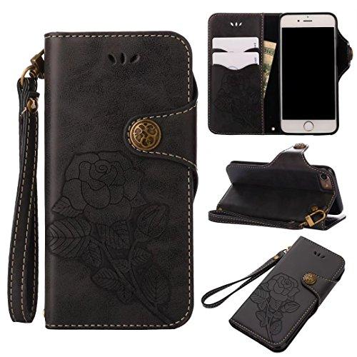 COWX iphone 6 Hülle Kunstleder Tasche Flip im Bookstyle Klapphülle mit Weiche Silikon Handyhalter PU Lederhülle für Apple iphone 6S Tasche Brieftasche Schutzhülle