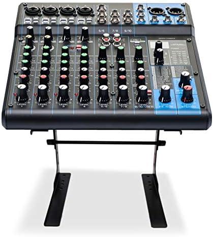 Soporte portátil portátil Pyle - Monitor de mesa de pie antideslizante de 6.3 a 10.9 pulgadas o elevador de estación de trabajo de escritorio con alineación de altura nivelada para DJ, PC, juegos, hogar u oficina - PLPTS25