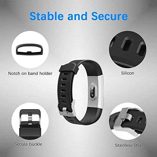 LETSCOM Fitness Tracker Activity Tracker Bundle with 3 Packs Replacement Bands (2 Items)