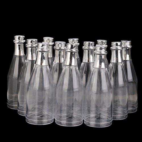 c4896c609901 Royarebar Pack of 12 Clear Bottle with Lid Glass Bottles Jars Decoration  Candy Bottles