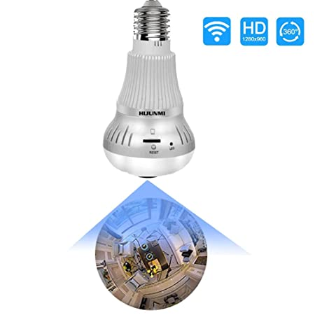 Light Bulb Camera, Include 32GB Card 1080P WiFi Security Camera, 2MP Wireles IP LED Cam,Indoor Outdoor Home Surveillance Cameras, Motion Detection, Night Vision Light Bulb Camera Include 32GB Card