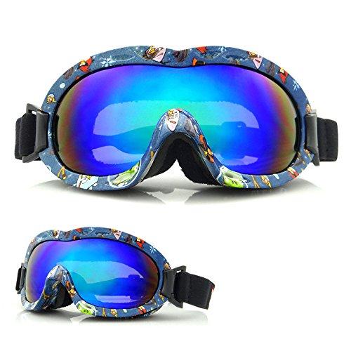 Childrens Snowboard Ski Goggles-Anti Wind Safety Glasses Warm Radiation Glasses Challenge Outdoor Necessities (Cartoon - Edinburgh Glasses Designer