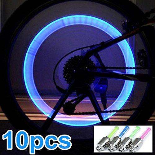 自転車LEDホイールライト バルブランプ バルブコアライト 10個   B01JJD1NLI