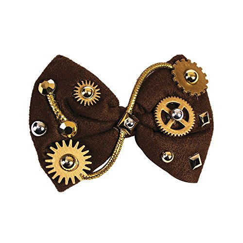 Forum Novelties 78016 Steampunk Brown Bow Tie Victorian