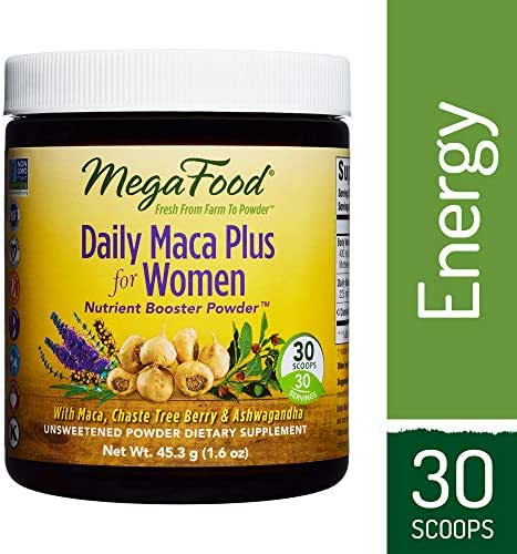 MegaFood - Daily Maca Plus for Women, Supports Immunity and Hormonal Balance with Chaste Tree Berry and Ashwagandha, Vegan, Gluten-Free, Non-GMO, 30 Servings (1.6 oz) (FFP)