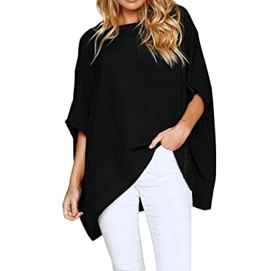 ccafa53b6 Women Shirts Tops Sweatshirt Pullover Hoodie Loose Oversized Tunic ...