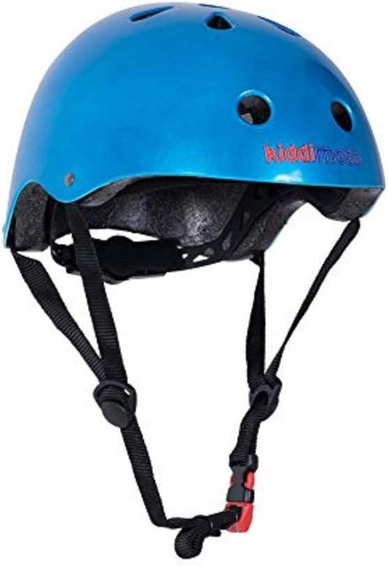 KIDDIMOTO - Casco (niño, utilizable para Boxeo, Ciclismo y Otros, Parte Trasera Ajustable con Disco, Talla M de 53 a 58 cm, metálico), Color Rojo