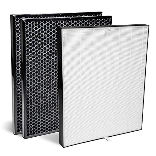 AIRDOCTOR Genuine Filter Replacement One-Year Combo Pack Includes One (1) UltraHEPA Filters & Two (2) Carbon/Gas Trap/VOC Filter