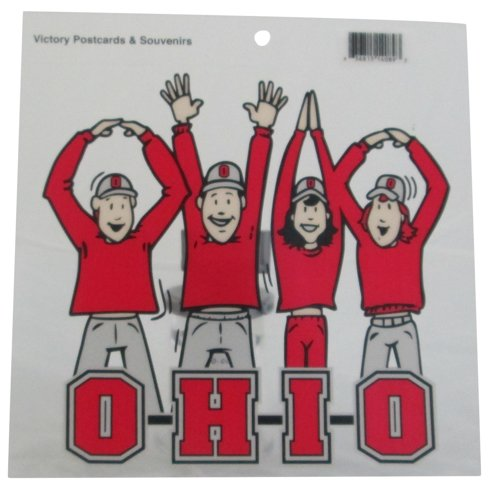 NCAA Ohio State Buckeyes Letters People Vinyl Window Cling, Scarlet, 7