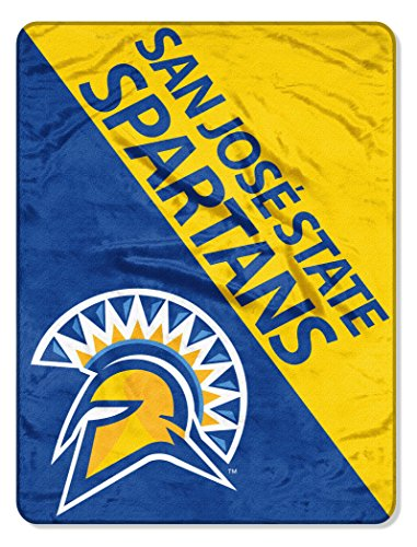 The Northwest Company Officially Licensed NCAA San Jose State Halftone Micro Raschel Throw Blanket, 46