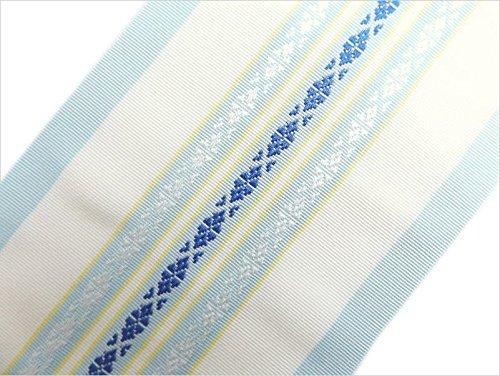 正絹伊達締め伊達〆献上柄薄水色 着物&振袖着付け小物 日本製