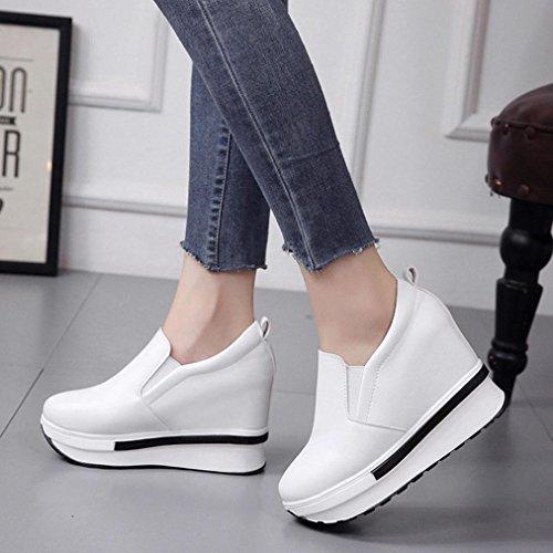 ¡Liquidación de Covermason! Zapatos planos de las mujeres Zapatos planos sólidos del dedo del pie redondo(37 EU, Blanco): Amazon.es: Ropa y accesorios