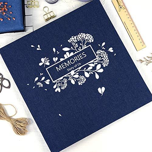 - PeaceLove Personality Cowboy Cover Black Sheets Photo Album DIY Manual Record Book Paste-Wedding Photo Album-Photo Album Scrapbook-Photo Album and Frames-Photo Album Self Adhesive-Photo Album