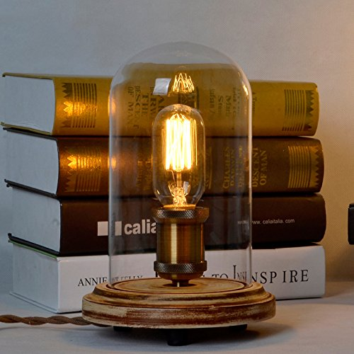 ElectroBP-Vintage-Style-Wood-Art-Desk-Lamp-Max-60W-With-1-Lights-Painted-Finish