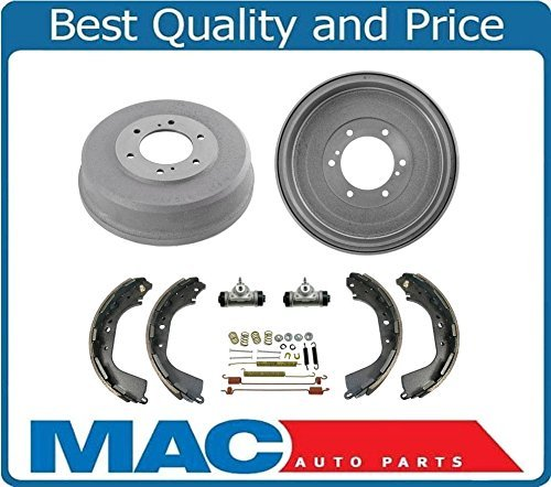 Mac Auto Parts 144638 Rear Brake Drums Shoes Springs Wheel Cylinders for Frontier Pick Up 4x4 ONLY