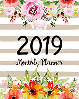 2019 monthly planner a year 12 month january 2019 to december 2019 for to do list journal notebook planners and academic agenda schedule weekly monthly calendar planner volume 1