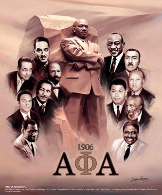 Men of Distinction II - Wishum Gregory   Art Print Poster (Martin Luther King Alpha Phi Alpha Fraternity)