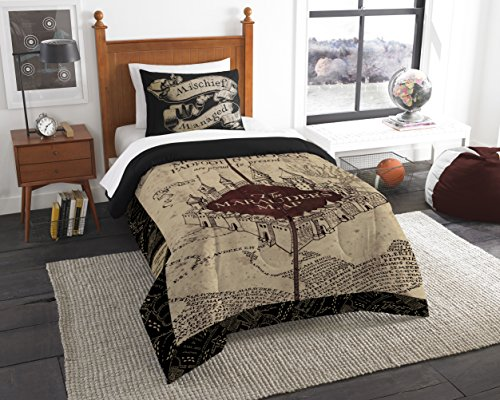 Harry Potter The Marauder's Map Twin Comforter Set Twin