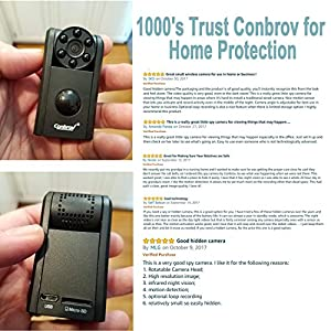 Hidden Spy Camera, Conbrov 720P Mini Hidden Camera Night Vision,Motion Activated Camera Spy Video Recorder with Built-in 1000mAh Battery Max 1 Year Standby Time ( Video Only)