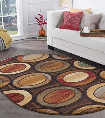 Tayse Martin Multi-Color 5×8 Oval Area Rug