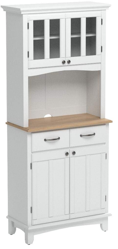 Buffet of Buffet White with Wood Top with Buffet by Home Styles by Home Styles (Image #5)