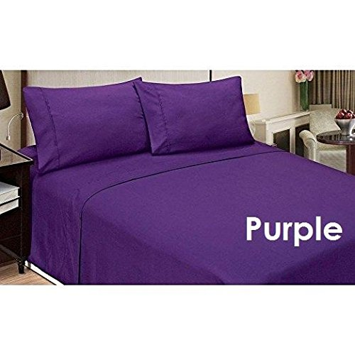 !! Chic's Brand !! - Amazingly Room Series SOLID STYLE Purple Color Luxury Sheets Depth Pocket { 15