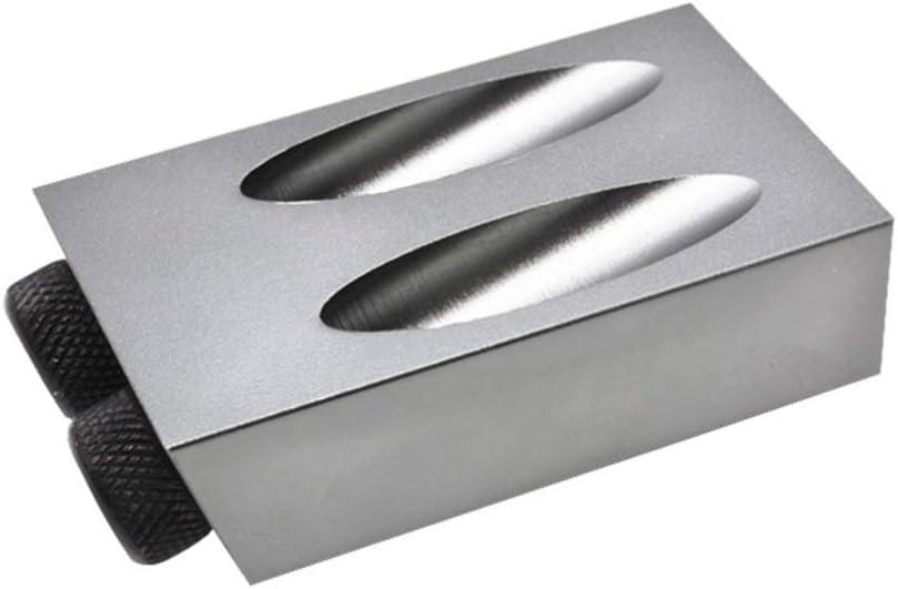 DOITOOL agujero de bolsillo plantilla de tornillo localizador de agujeros de madera /ángulo de 15 grados para uso con taladro trabajo manual carpinter/ía