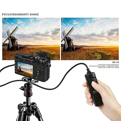 D/&F RR-90 Wired Remote Shutter Release Control Switch Cord for Fuji Fujifilm X-E2,X-T1,X-T10,X-A1,X-M1,X-Q1