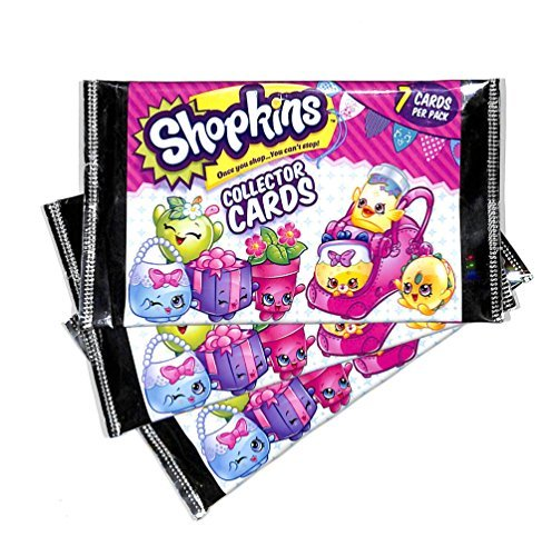 - Season 4 Shopkins Collector 3 Sealed Trading Cards Packs