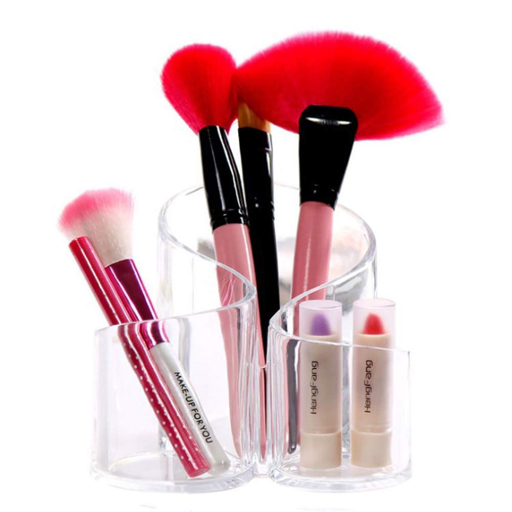 Rangement maquillage clear Brush Pencil Lipstick Pot Shape Cylindrical Holder Storage Cosmetic Storage Organizer Crystal Makeup Cosmetic Organizer Storage Case Box Makeup Pen Box make up tool container Yahegongmao