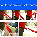 Hewolf Single Person Hammock with Straps Canvas