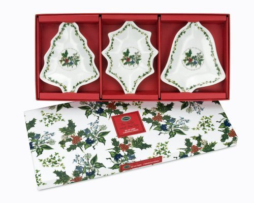 Portmeirion Holly and Ivy Dishes, Set of 3 by Portmeirion
