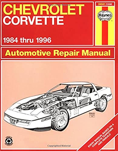 chevrolet corvette 1984 thru 1996 automotive repair manual mike rh amazon com 85 Corvette 85 Corvette