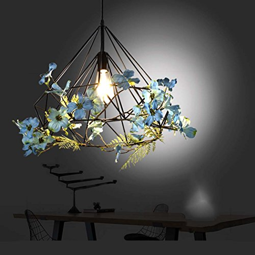 GAOLIQIN Iron Pendant Lamp, Creative Personality Simulation Plant Art Pendant Light,Theme Concert Bar Window Restaurant Decoration Chandelier (Size : 40CM) by GAOLIQIN (Image #3)