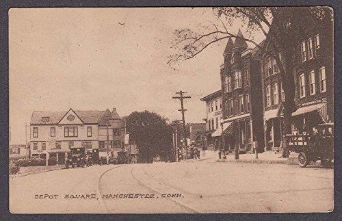 North End Department Store Depot Square Manchester CT postcard - Stores Ct Manchester