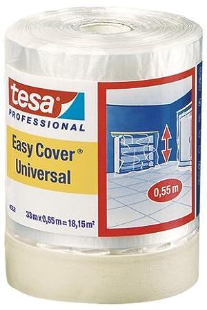 Tesa Easy Cover 4368 Premium Malerkrepp 04368-00010-02 mit Abdeckfolie 33 m:1800 mm