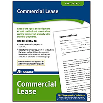 AmazonCom  Adams Commercial Lease Forms Pack Forms And