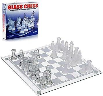 ADS Technologies Ajedrez con Tablero de Cristal Juego de Mesa Ajedrez Chess 20 x 20 cms Nuevo: Amazon.es: Juguetes y juegos