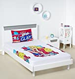 Bombay Dyeing Mattel 144 TC Cotton Single Bedsheet with 1 Pillow Cover - White