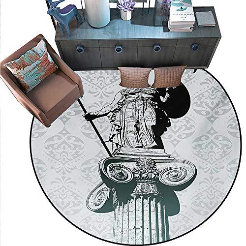 Sculptures Circle Rugs Statue Athena on Baroque Background Ancient Greek Mythology Living Dining Room Bedroom Hallway Office Carpet (63