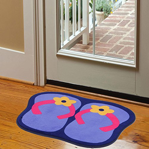 Slip plush mat living room bedroom carpet door mat bathroom water-absorbing pad -4158cm d by ZYZX