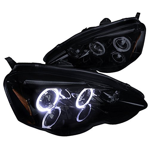 (Spec-D Tuning 2LHP-RSX02G-TM Black Projector Headlight (Smoked Lens Gloss Housing))